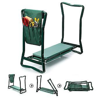 Fällbar trädgårdsstol knästänksstol, pall i rostfritt stål