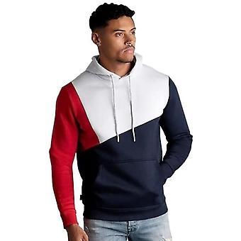 Homme Casual Long Sleeve Patchwork Sports Sweatshirt Hoodie