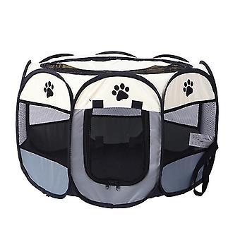 Pet Dog Playpen Tent, Crate Room, Foldable, Waterproof, Outdoor Two Door, Mesh