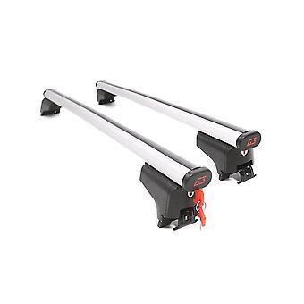 G3 aerodynamisk aluminium tagbøjler med låse og taster (Fastgør til fast skylle jern)