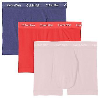 Calvin Klein Baumwolle Stretch 3 Pack Stamm, Blauwal/Wildflower/Bubblegum, klein