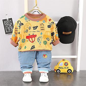 Baby Clothing,'s Autumn Cartoon Car Hoodie