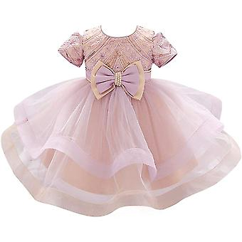 Baby Meisje Formele Doop Prinses Jurk 1129-roze