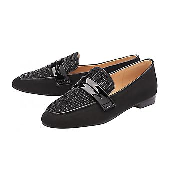 Ravel Svart & Diamante Luis Loafers