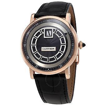 Cartier Rotonde de Cartier Jumping Hours Manual Wind 18 kt Rose Gold Men's Watch W1553751