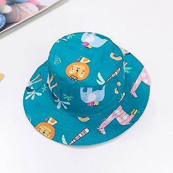 儿童夏季卡通印刷帽和