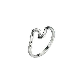 Estilo de ondas spindrift anillos irregular esbelta personalidad de moda creativa anillo de cola articular