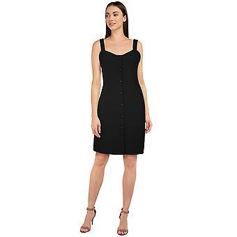 Chic Star Strap Dress In Black