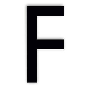 Alphabet letter Caviar Font Acrylic Mirror or Black Acrylic Door Sign - F