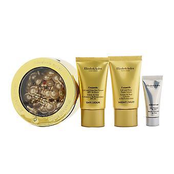 Ceramide jeunesse quotidienne restaurer capsules ensemble: capsules 60caps + crème de jour fps 30 15ml + crème de nuit 15ml + renouvellement de la peau booste ... 261049 4pcs