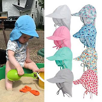 Baby Hat Children Outdoor Summer Sun Neck Ear Cover Anti UV Protection Beach Caps Kids Boy Girl Swimming Flap Caps for 0-5 Years
