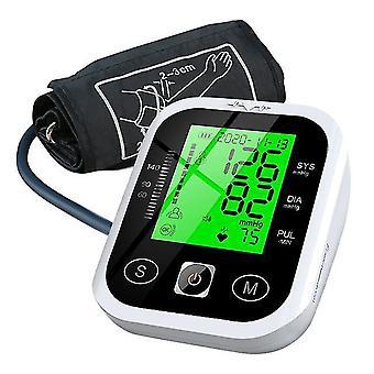 Bovenarm sphygmomanometer lcd display driekleurige verlichting elektronische automatische tonometer gegevensopslag bloeddrukmeter