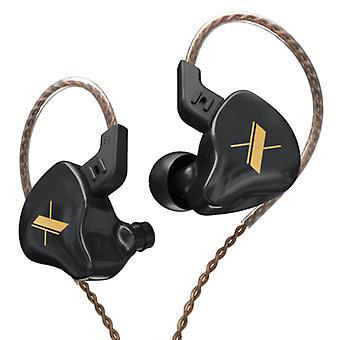 KZ EDX 1DD Earbuds - 3.5mm AUX Earpieces Noise Control Volume Control Wired Earphones Earphone Black