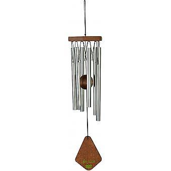 windspiel 35 cm Aluminium/Holz silber