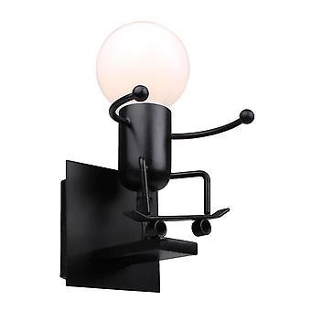 Humanoidi Luova LED Sisäseinävalaisin (musta)