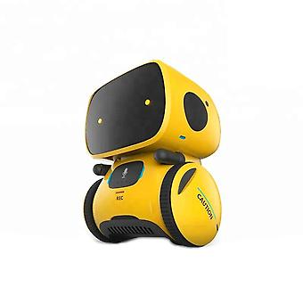 PNI Robo One interactive intelligent robot, voice control, touch buttons, yellow