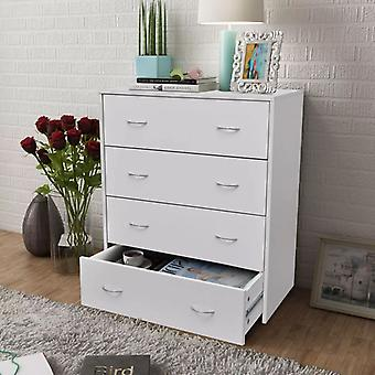 vidaXL chest of drawers with 4 drawers 60×30.5×71 cm White