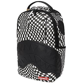 Sprayground Trippy Check DLXSVF Backpack White