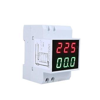 Digital Din-Rail LED Voltage Ammeter Current Meter Voltmeter AC80-300V 0.2-99.9A Double Écran