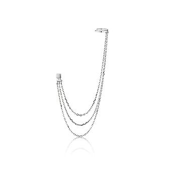 Ania Haie Sterling Argent Rhodium Plaqué Draping Swing Ear Cuff E013-02H