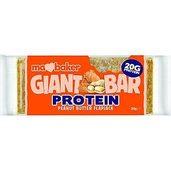 Ma Baker barras gigantes proteína mantequilla de maní Flapjack 90gx20
