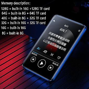 Nuovo lettore Bluetooth 5.0 Mp3 Bluetooth più recente Altoparlante integrato Full Hd 2.5inch Color Touch