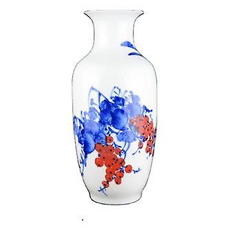 blue and white porcelain flower vases for home decor