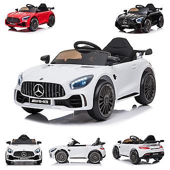 ES-Toys Kinder Elektroauto Mercedes AMG GT R Ledersitz Fernbedienung EVA-Reifen
