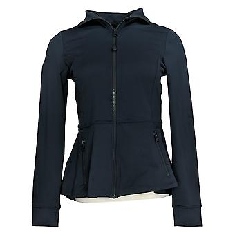 G.I.L.I. lo consiguió love it Women's (XXS) Zip Peplum Jacket Blue A354968