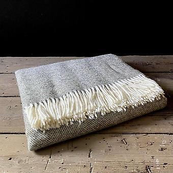 Wool Display Throw Moss