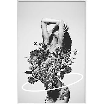 JUNIQE Print - Be Slowly - Erotique Poster en Gris & Noir