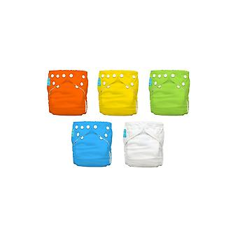Charlie Banana® 2-in-1 Reusable One Size Diapers Hybrid AlO- 5-pack