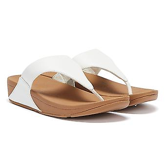 FitFlop Lulu Leather Womens White Sandals