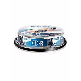 Philips CD-R Εγγράψιμος άξονας 52X 10PK