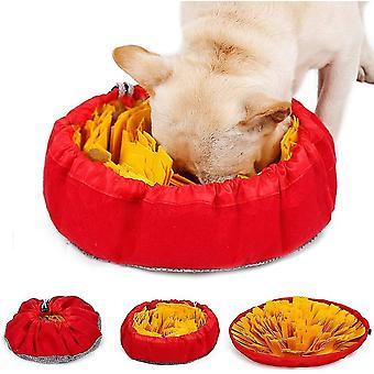 黄色のスニファーカーペット犬芝生洗濯可能な折りたたみ式臭い運動ペットマットdt6732