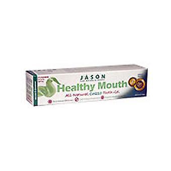 Jason Natural Products Healthy Mouth Anti-Cavity & Tartar Control Gel, Tea Tree Oil & Cinnamon, 6 Oz