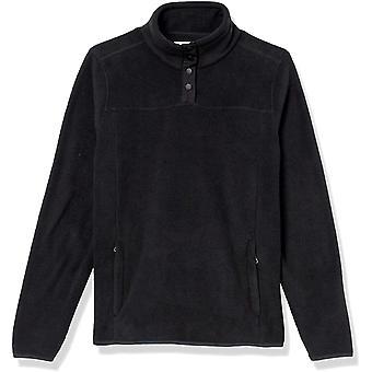 Essentials Damen Polar Fleece Langarm Mock Neck Relaxed-Fit Popover Jacke mit Taschen
