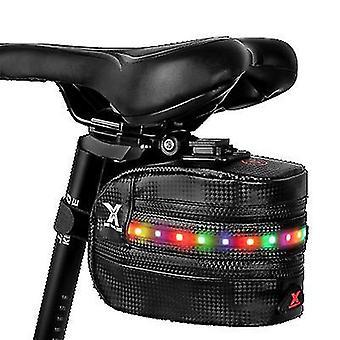 תיק אחסון אופניים בהיר צבעוני עם פנס זנב, מושב תיק פולט אור az10733
