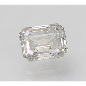 معتمد 1.00 قيراط G SI2 الزمرد تعزيز الماس فضفاضة الطبيعية 6.34x4.96m 2VG