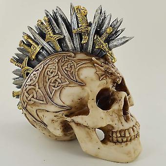 Celtic Patterned Sword Mohawk Skull