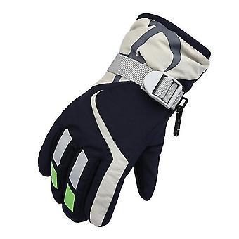 Ski Gloves,waterproof Kids Ski Gloves,snowmobile Cold Weather Gloves(Navy)
