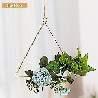 Corona di fiori Triangolo nuziale Metallo Corona di ferro Anello Cerchio Porta Hanging Craft Party Decor Easter