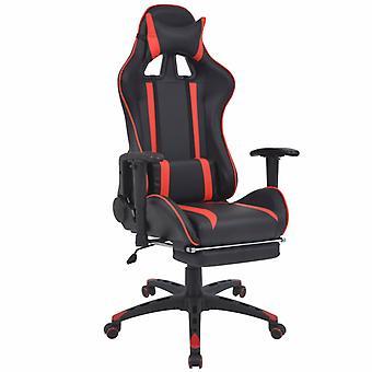vidaXL neigable chaise de bureau de course avec repose-pieds rouge