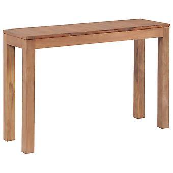 vidaXL Konsol bord teak solid naturlig finish 110x35x76 cm