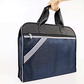 メンズビジネスブリーフケースオックスフォードダブルスリーブトートA4ファイルパックシンプルなノートブックバッグ