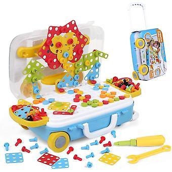 229 Stück Mosaik Spielzeug Steckspiel 3D&2D Pegboard Puzzle Montessori Spielzeug, Kreativ