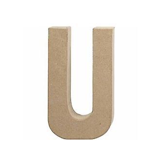 20.5cm Letra Mache de Papel Grande U Maquinista Formas