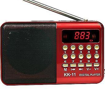 Digital Radio Speaker Portable Mini Fm Radio Usb Tf Mp3 Music Player Telescopic Antenna Handsfree