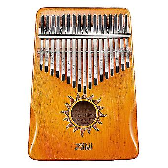 21 Keys Kalimba Thumb Piano Musical Instrument Gift For Kids Orange