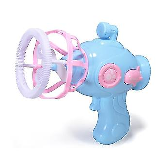 Electric Fan Bubble Gun, Automatic Bubble Blowing(Blue)